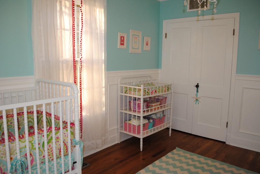Perfect Home Aqua, Mint and Hot pink nursery Quarto de  ~ Quarto Rosa Choque