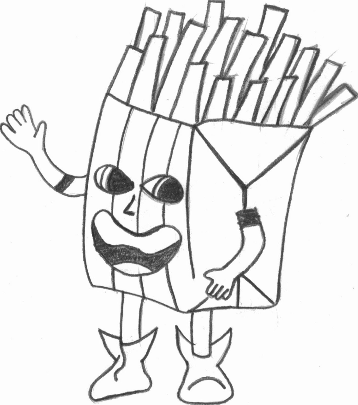 french fries coloring pages - photo#18
