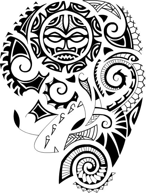 Maori Polynesian Tattoo Design