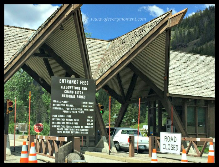 East gate, entrance fees, Yellowstone