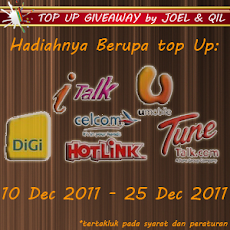 TOP UP GIVEAWAY by JOEL &amp; QIL