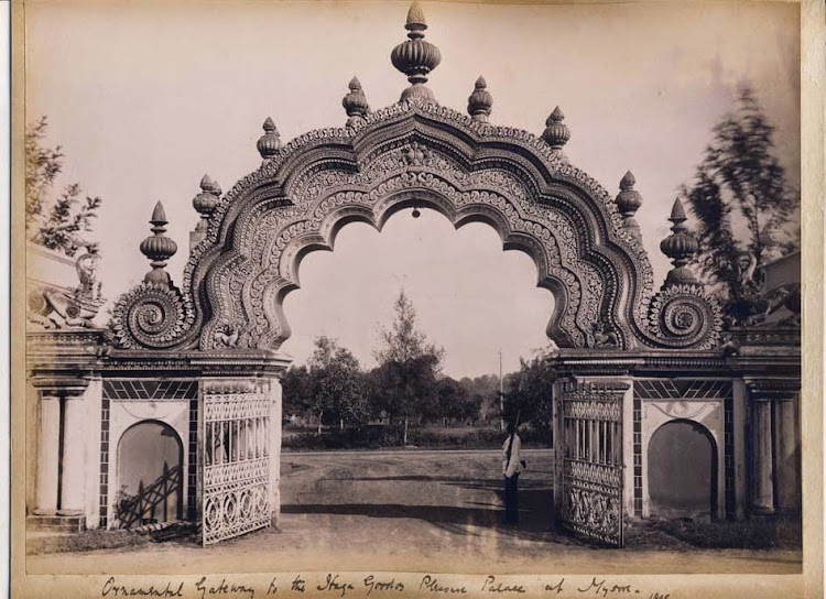 Ornamental Gateways of a  Palace - Mysore, Karnataka, 1895