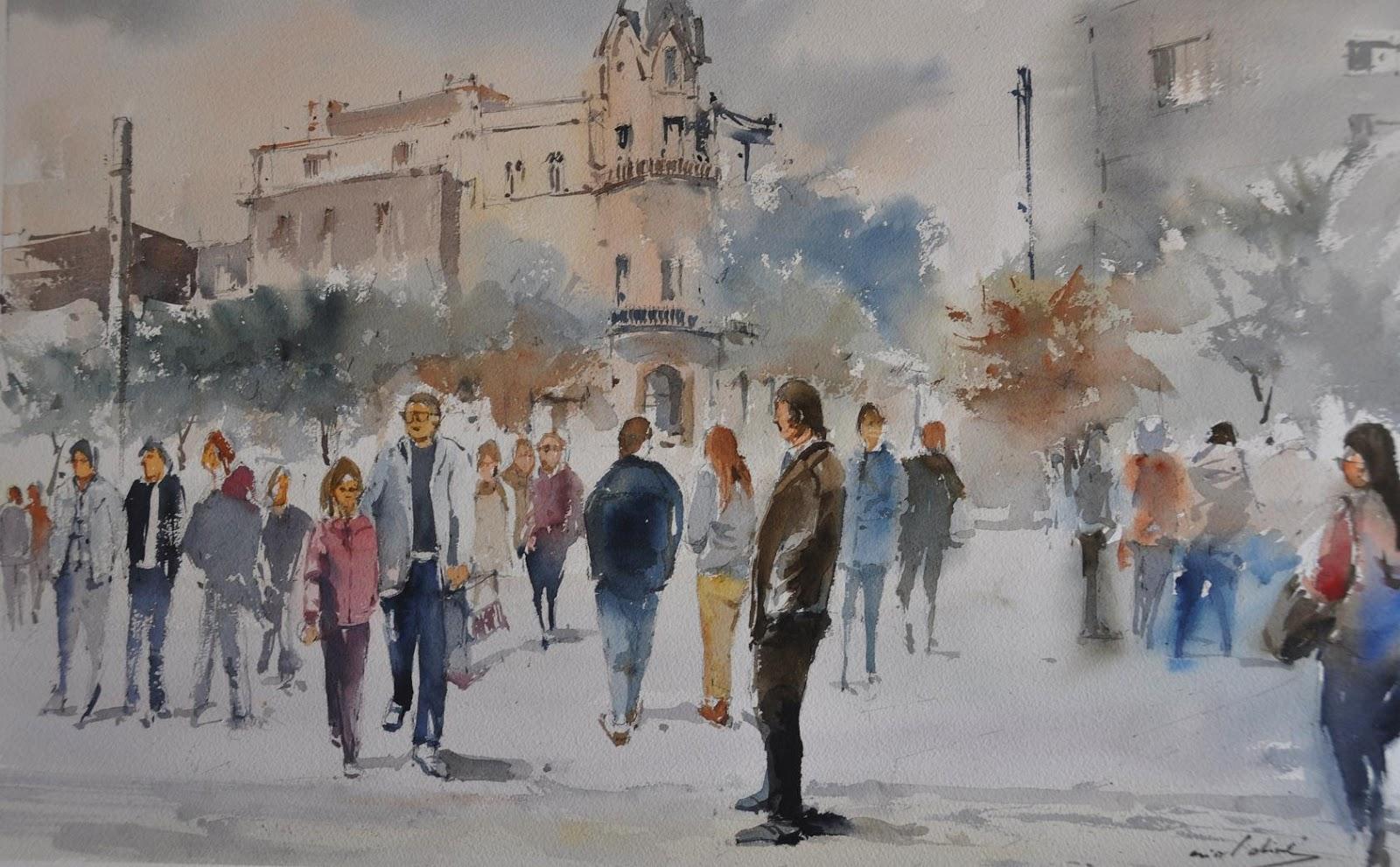 Oriol oliv aquarel les concurs de pintura r pida - Pintur sant fruitos ...