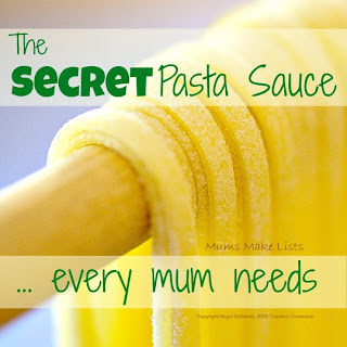 Secret pasta sauce