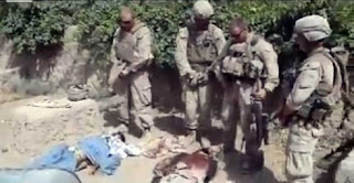 Marines urinating on corpses of dead Taliban in Afghanistan