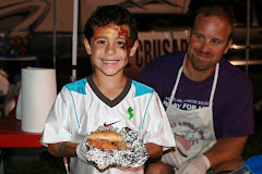 Mark and Matthew serving BBQ at Relay 2009