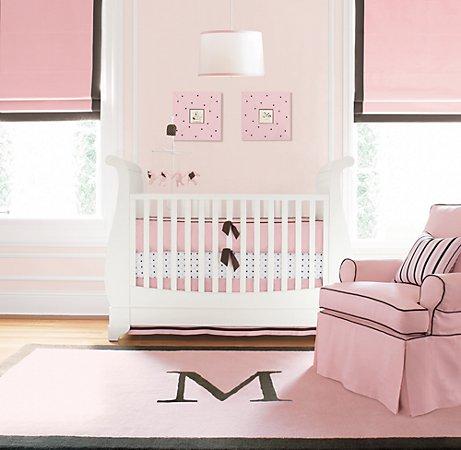 all things belle restoration hardware knock it off monogram rug. Black Bedroom Furniture Sets. Home Design Ideas