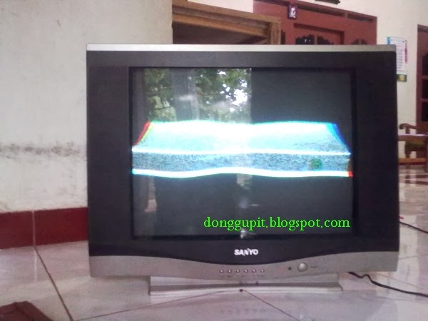TV SANYO MATI SETELAH NYALA TERLALU LEBAR KEATAS DAN KEBAWAH