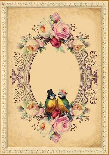 Papirolas coloridas tarjetas vintage - Vintage and chic love ...
