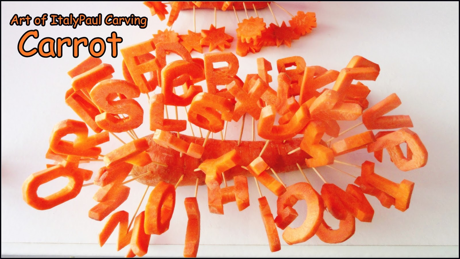 Italypaul art in fruit vegetable carving lessons abcd