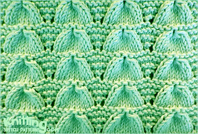 Knitting Patterns Shell Lace : Lucina Shell Knitting Stitch Patterns