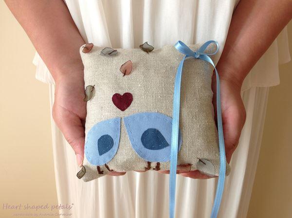 ring bearer pillow autumn wedding