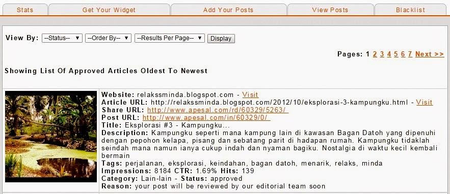 Perkhidmatan Ping Aggregator Apesal.com