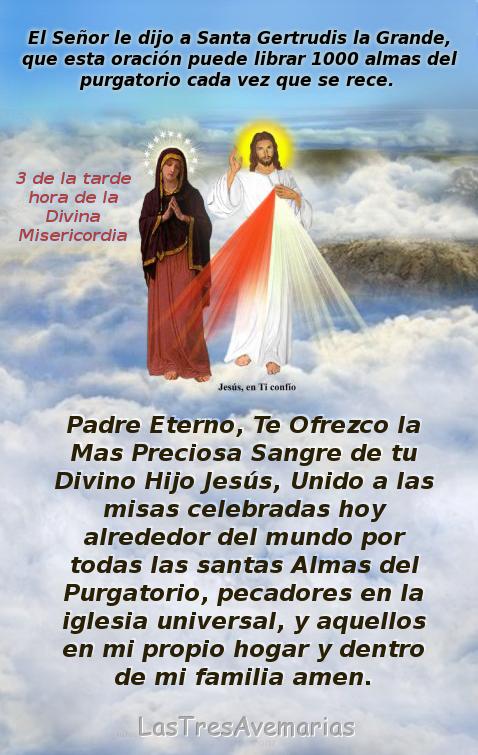 imagen de jesus con oracion por los difuntos