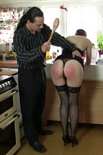 "Hostess Caroline Grey disciplined with a wooden spoon during a cocktail party - ""Dreams Of Spanking"""