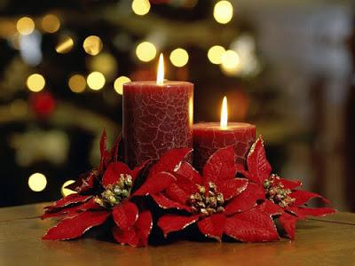 Velas navideñas con pascuas