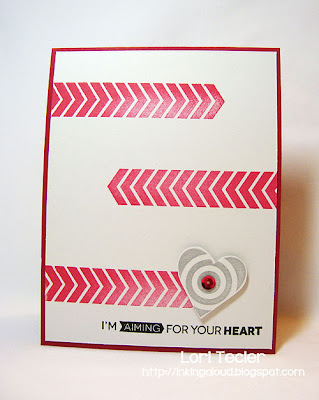 I'm Aiming for Your Heart-designed by Lori Tecler-Inking Aloud-stamps from My Favorite Things