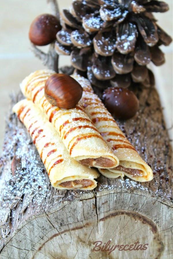 crêpes de praliné de castañas