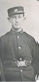 James John Rymer in his London Postal Service uniform (from Ancestry.co.uk)