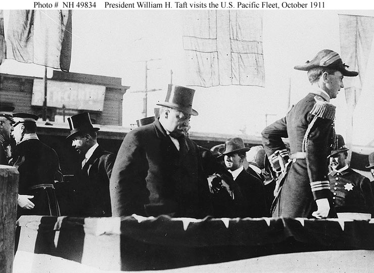 President William Howard Taft visits the U.S. Pacific Fleet, 15 October 1911