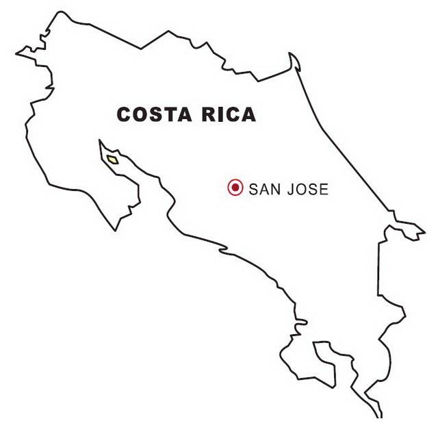 Mapa De Costa Rica Para Imprimir