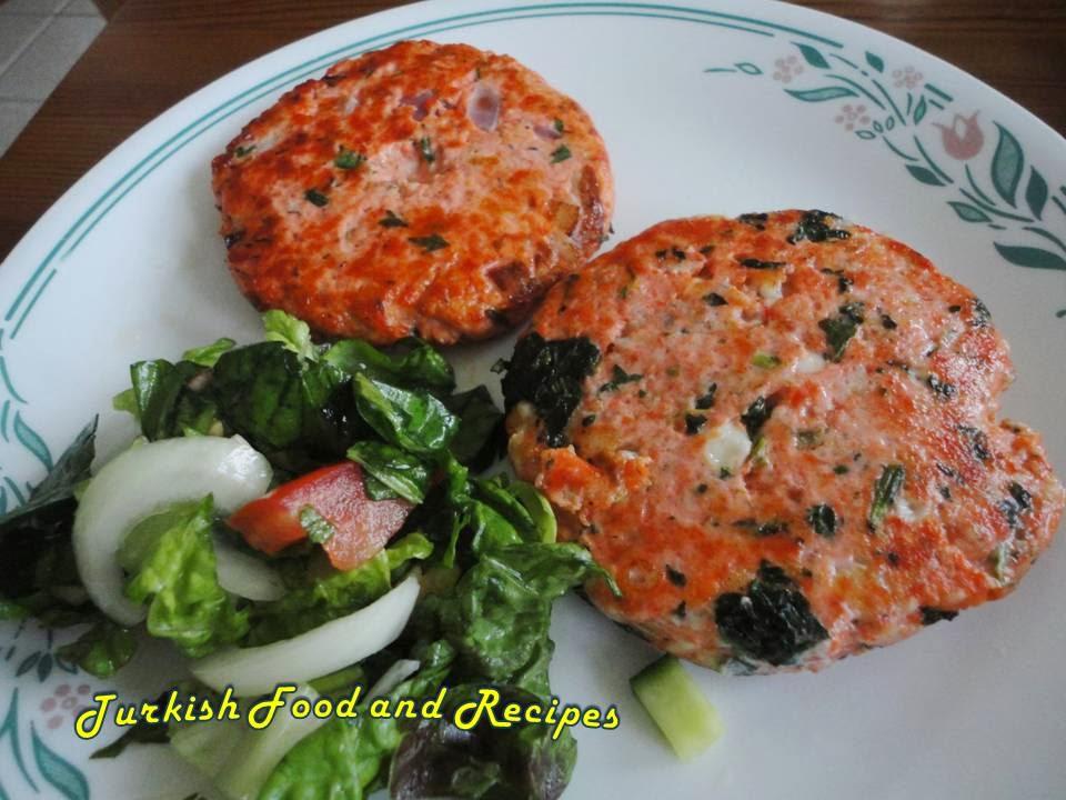 salmon patties (somon baligi koftesi)