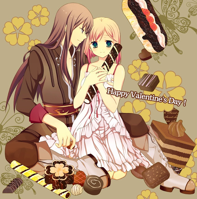 Tales of Vesperia,anime couple,valentines day