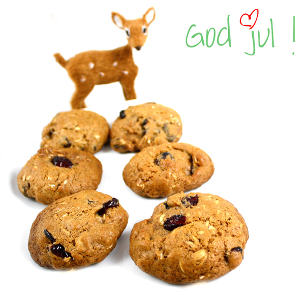 Oppskrift Julecookies Småkaker Julebakst Hjemmelagde Hjemmebakte Cookies Tranebær Rosiner