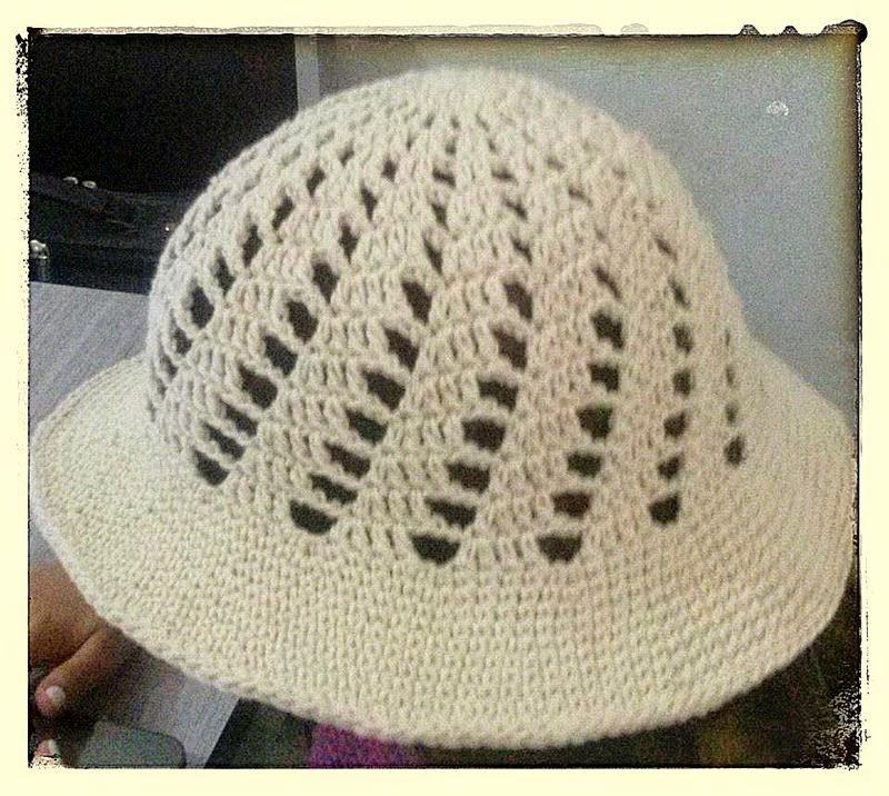 Chapéu em crochê modelo 2
