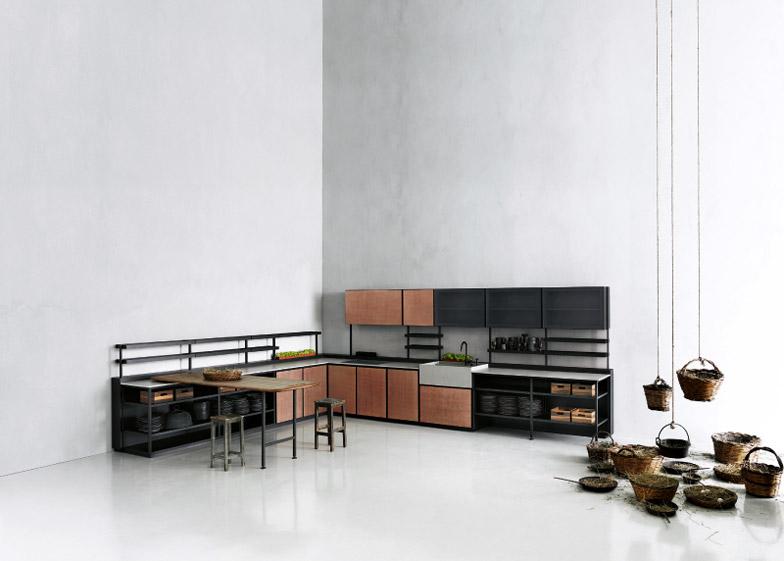 Cucina modulare salinas progettata da patricia urquiola per boffi ...