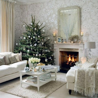 Ideas Christmas Home  Decorating Living Room