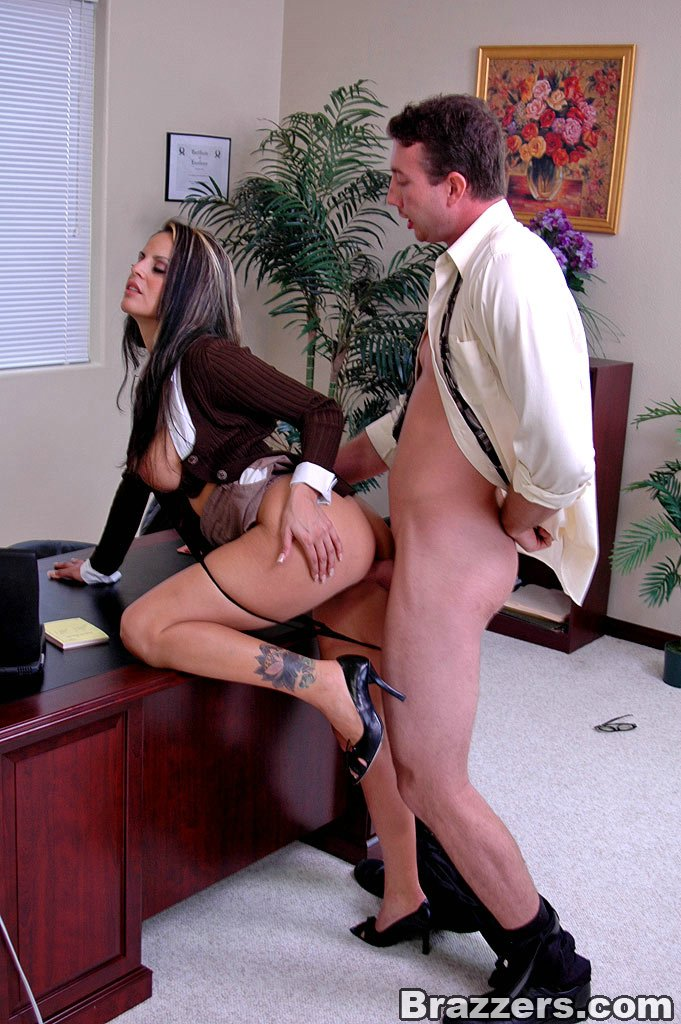 Hardcore office fuck featuring big titted Mikayla and the mailman.