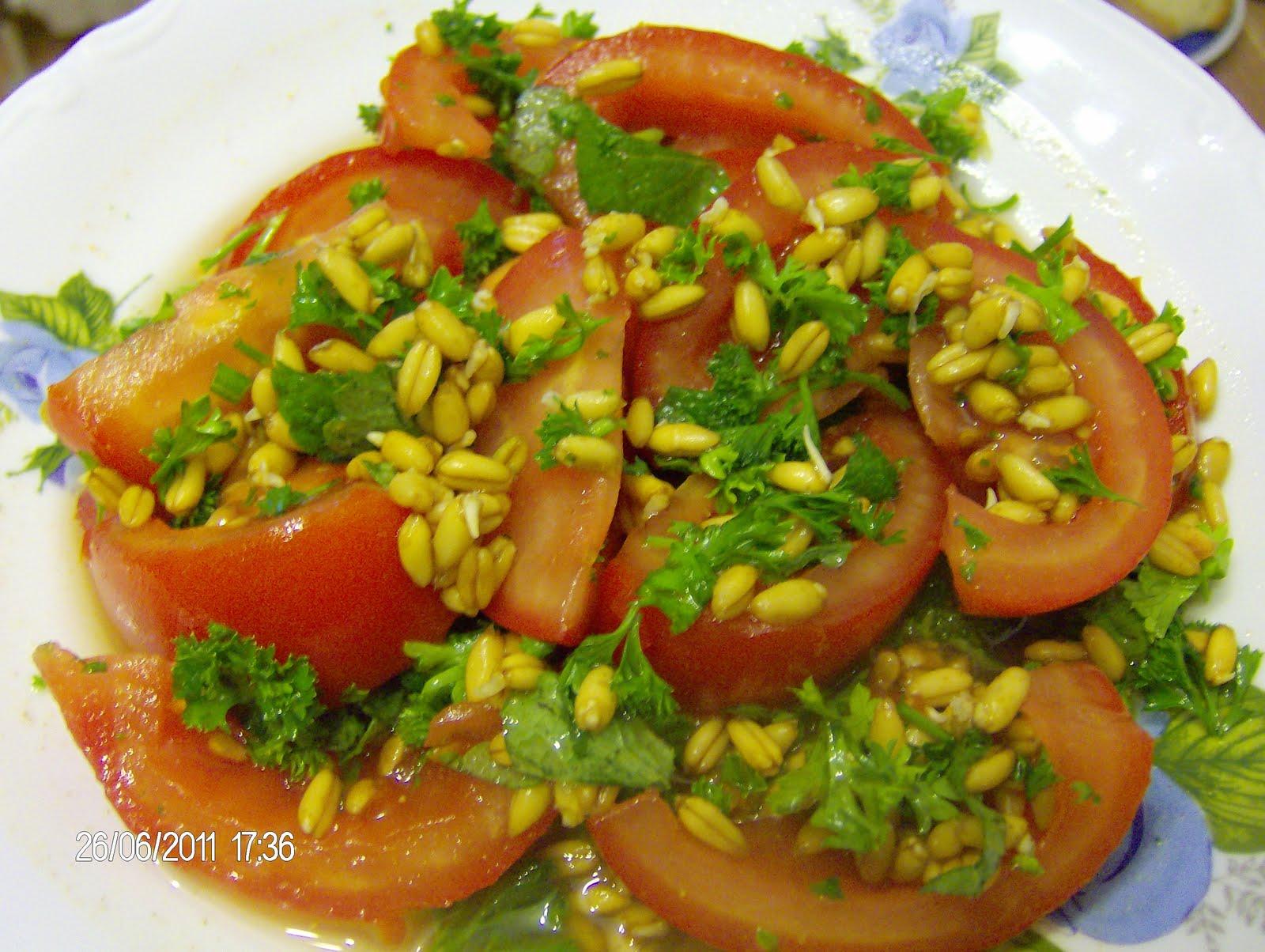 Рецепты салатов из пророщенной пшеницы с