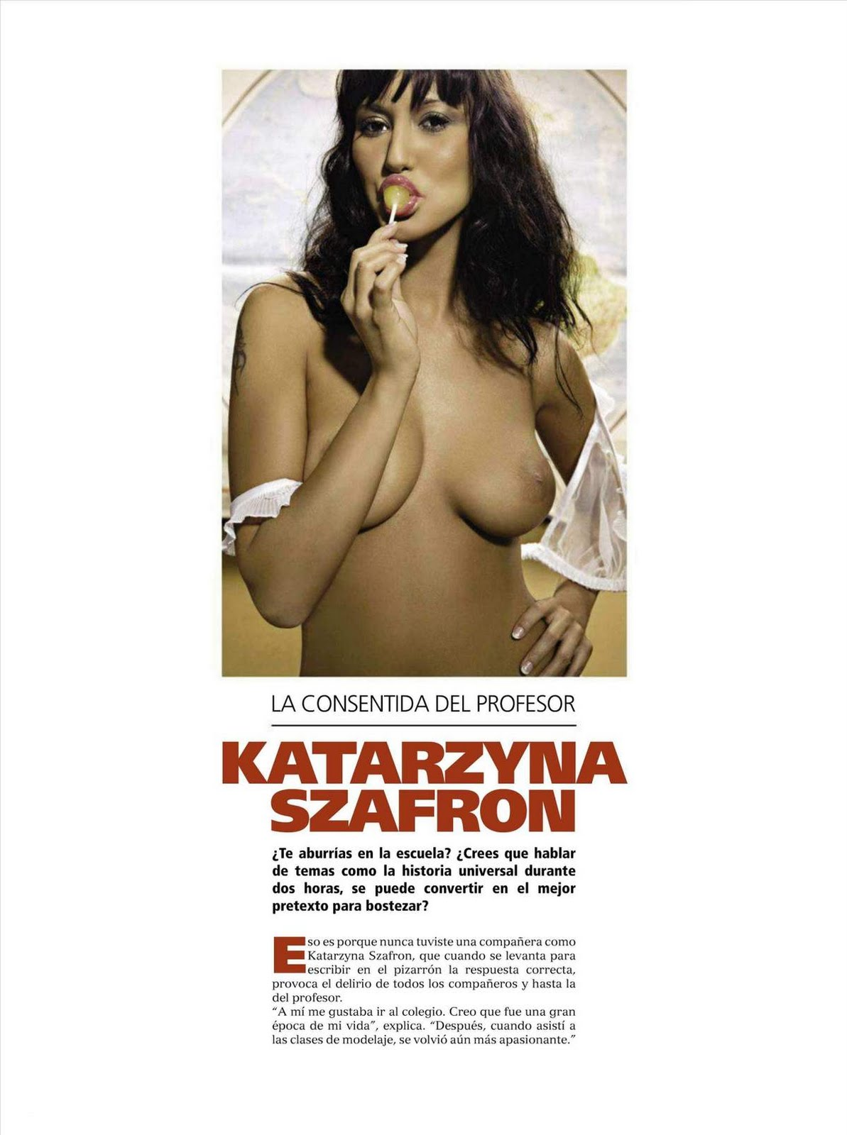 Szafron  nackt Katarzyna Katarzyna Szafron