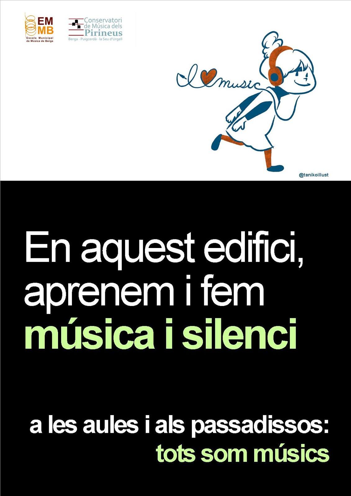 A l'escola fem música i silenci