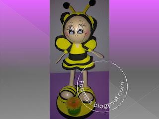fofucha-abeja, fofucha, fofuchas, foami, goma eva, regalos personalizados.