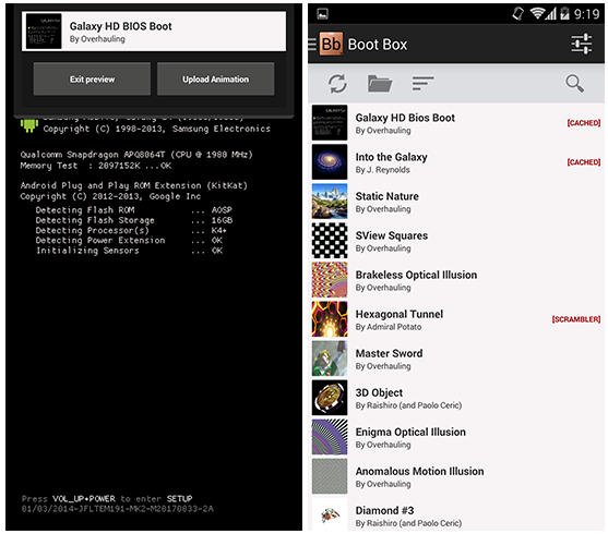 boot customize in android