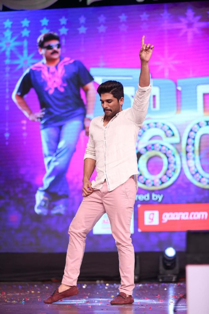 Allu Arjun Latest Syylish Dance Performance At Megastar 60