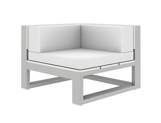 Modern outdoor corner sofa gandia blasco na xemena sofa for Sofa modular exterior