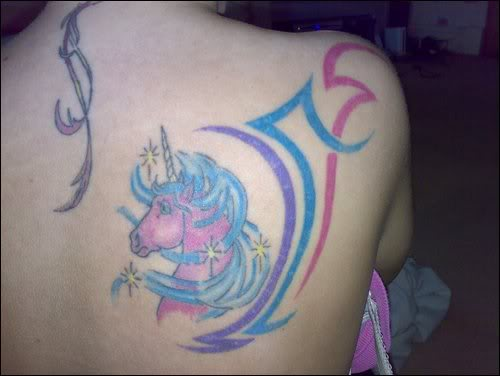 Unicorn Tattoo2 Unicorn Tattoo Popular Among Women To Express Fantasy