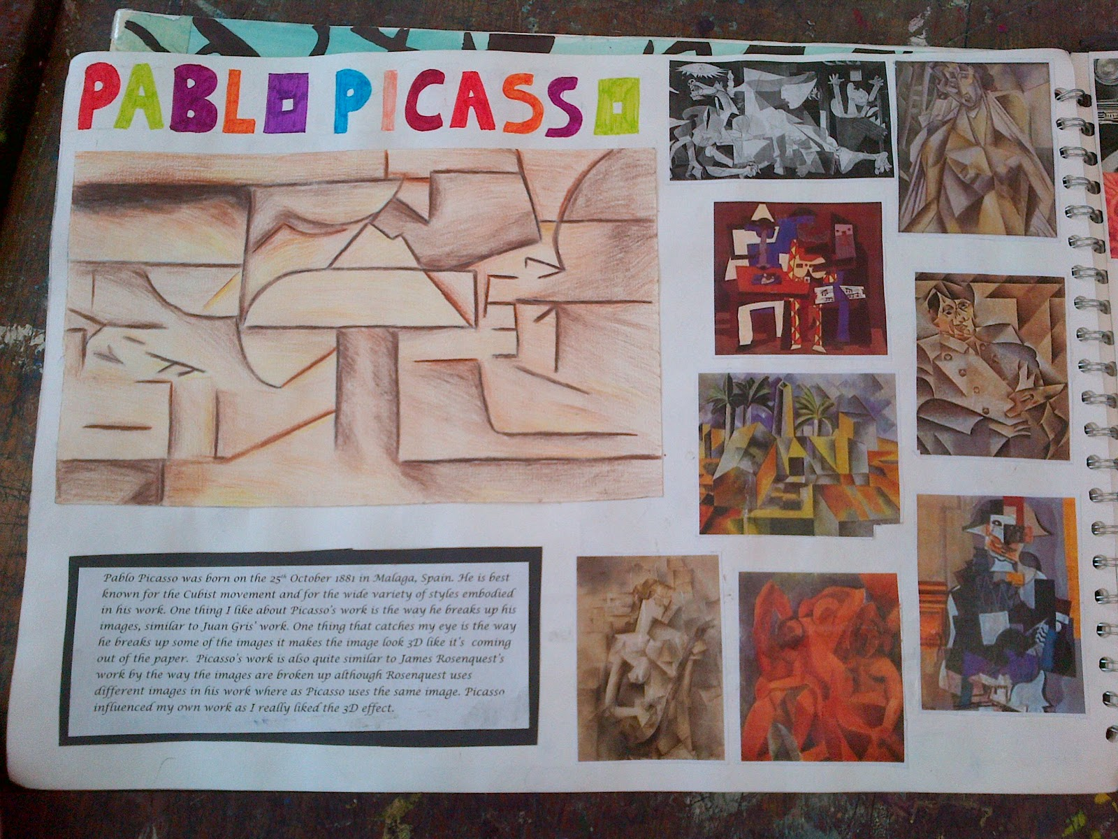 pablo picasso artist research