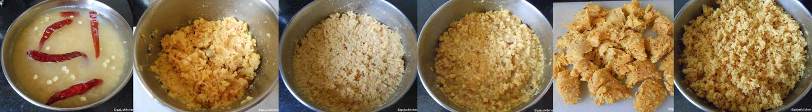 Dhal preparation for usili