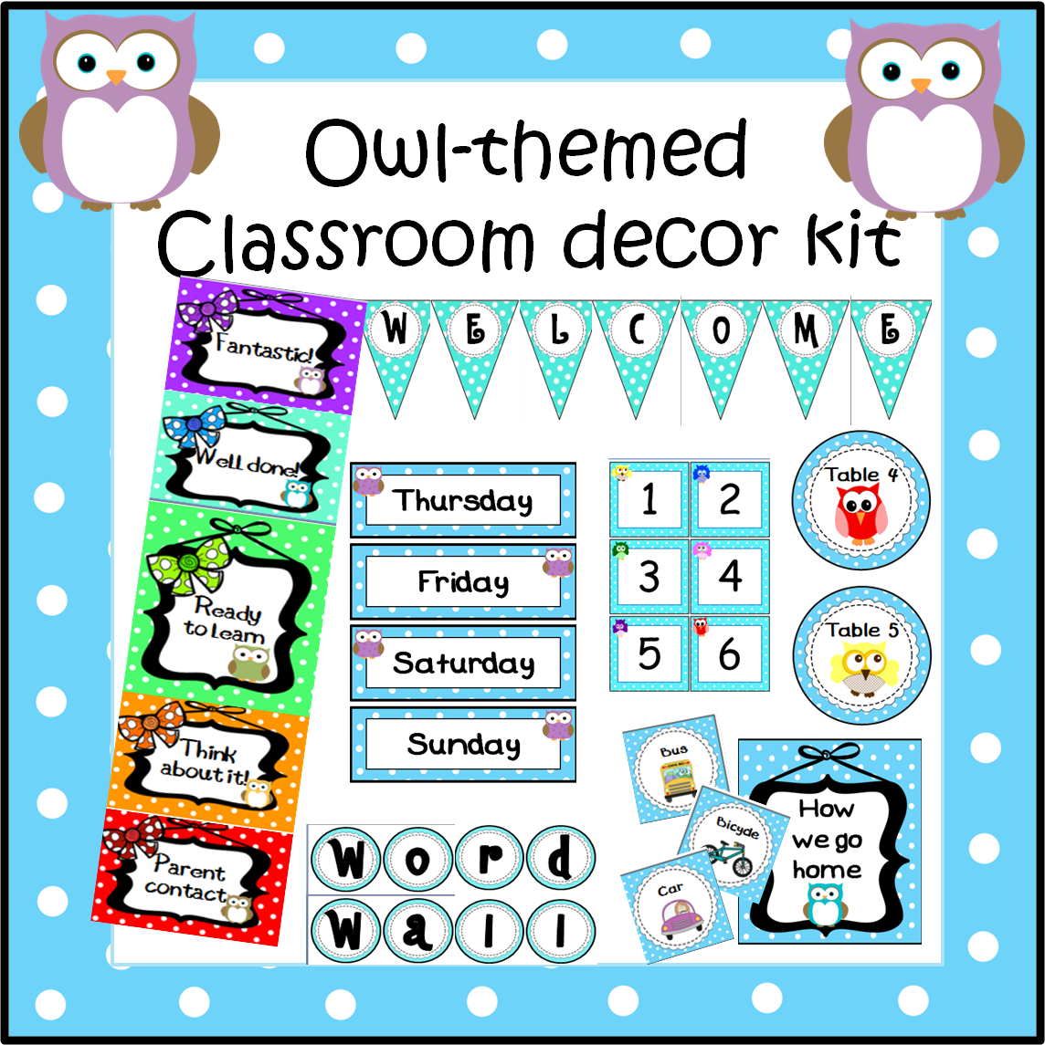 Classroom Decor Kit ~ A crucial week july