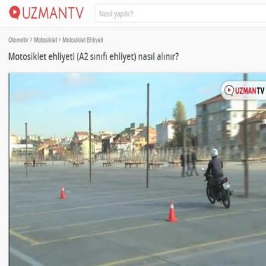 uzmantv com - motosiklet ehliyeti ( A2 sınıfı ehliyeti nasıl alınır )