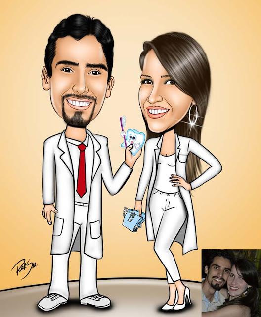 casal de namorados formados em odontologia