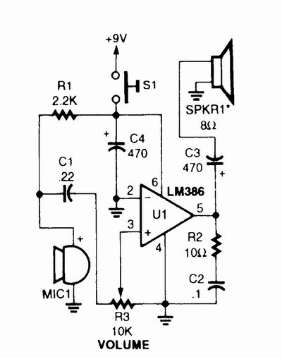 megaphone circuit diagram