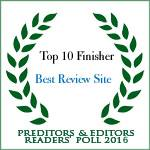 TOP 10 FINISHER BEST REVIEW SITE PREDITORS & EDITORS READERS POLL