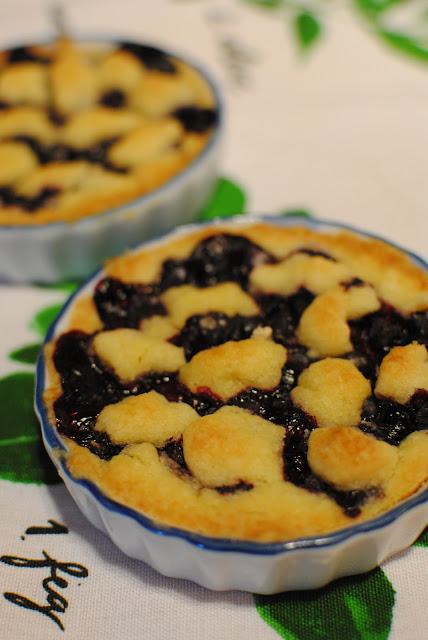recept, blåbär, paj