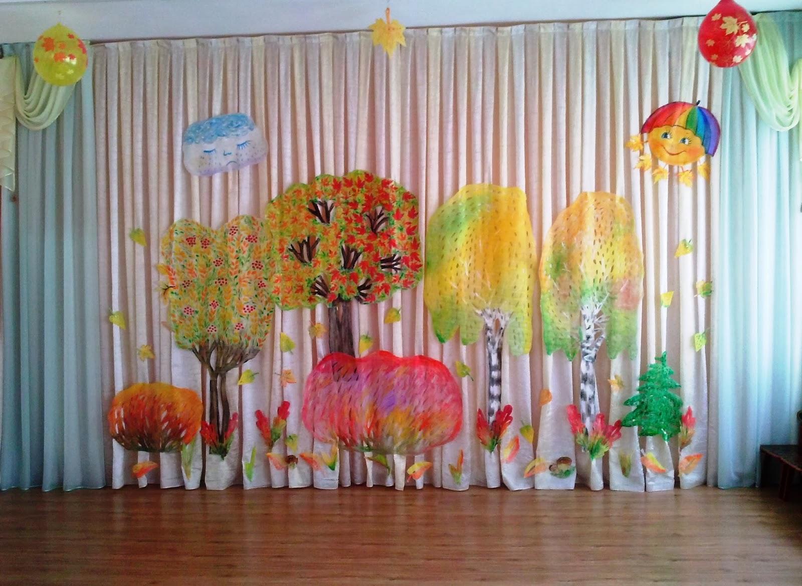 Музыкальный зал в детском саду дизайн стен