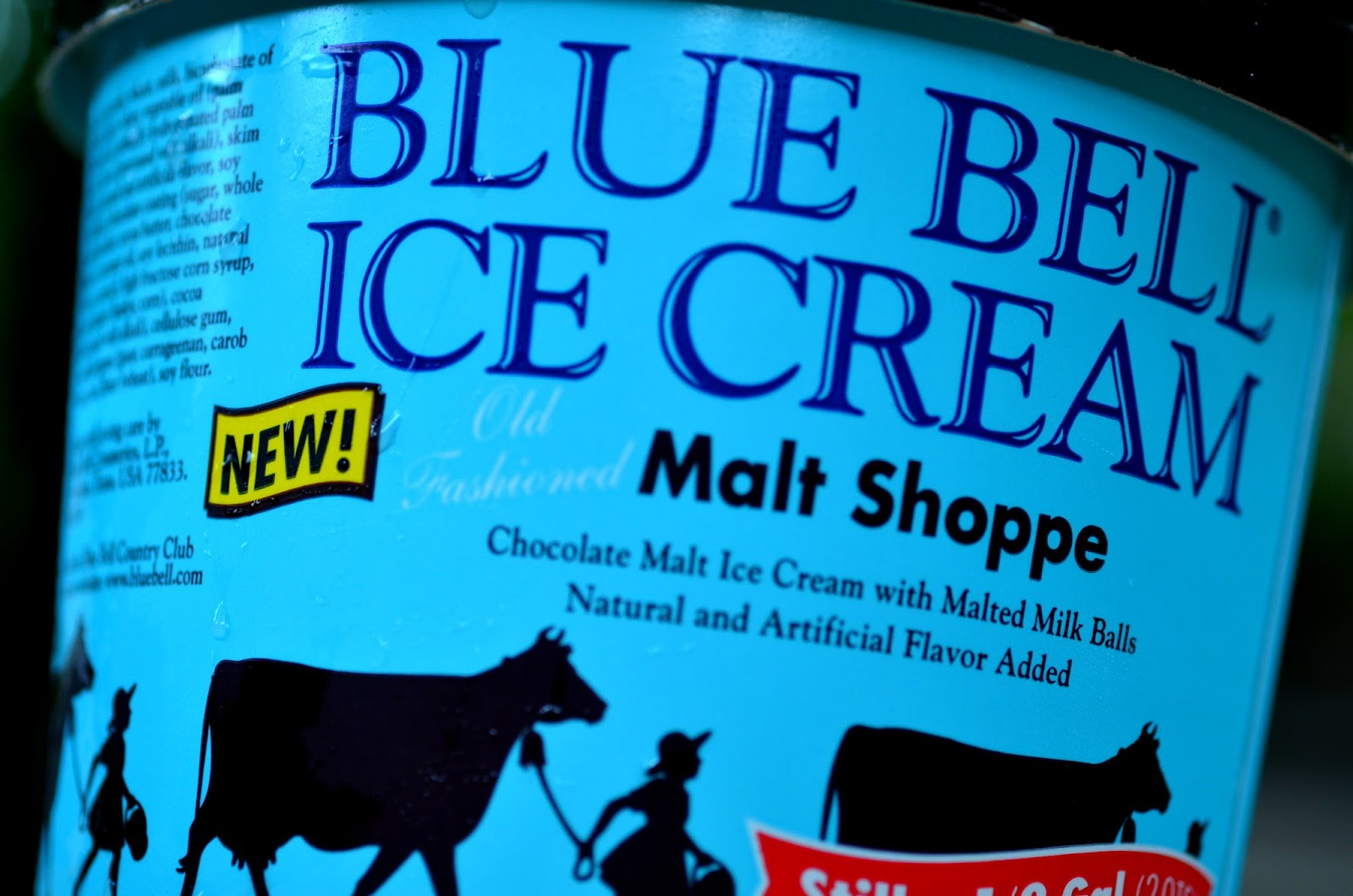food and ice cream recipes REVIEW Blue Bell Malt Shoppe